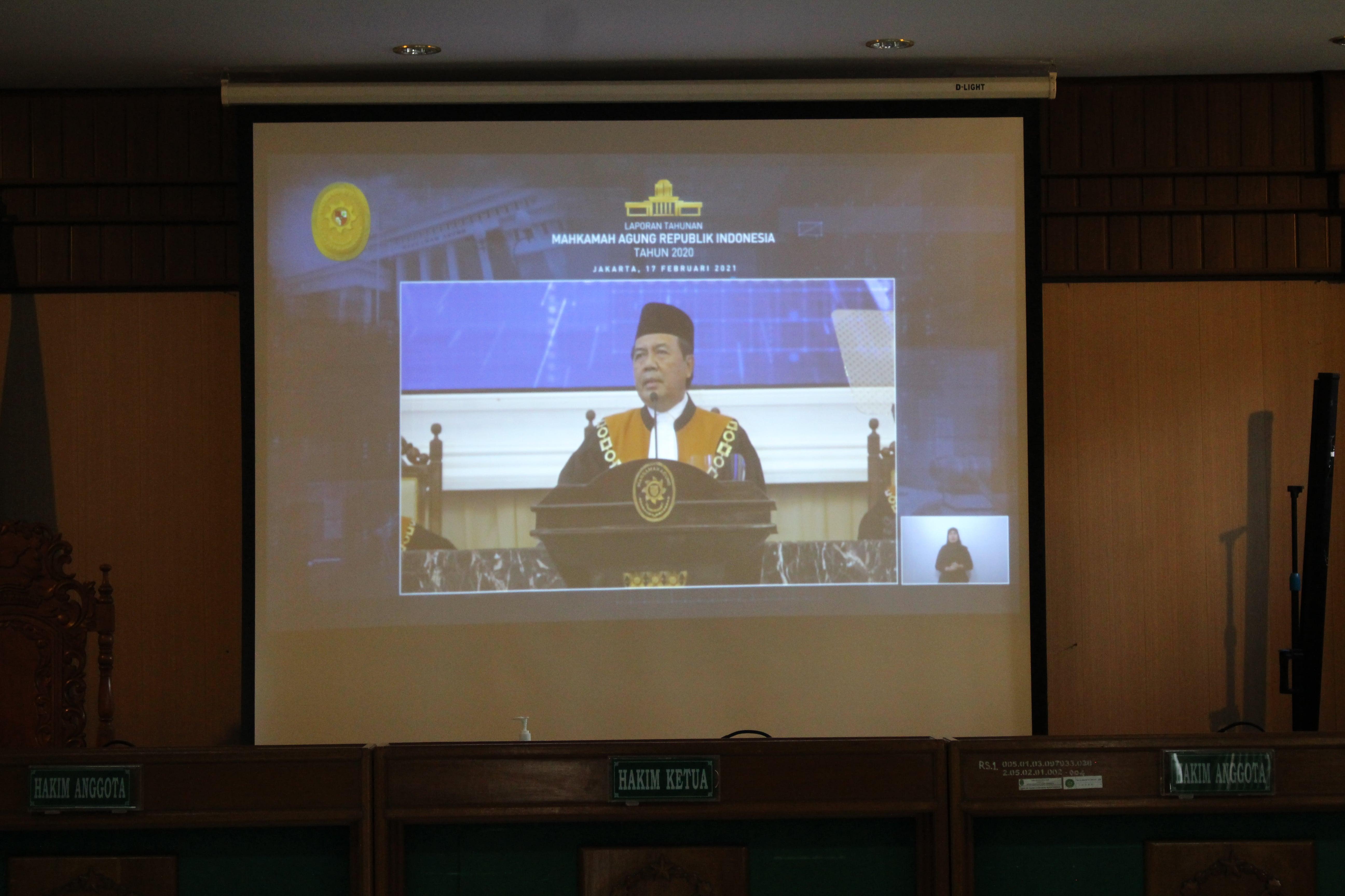 Laporan Tahunan Mahkamah Agung Republik Indonesia Tahun 2020