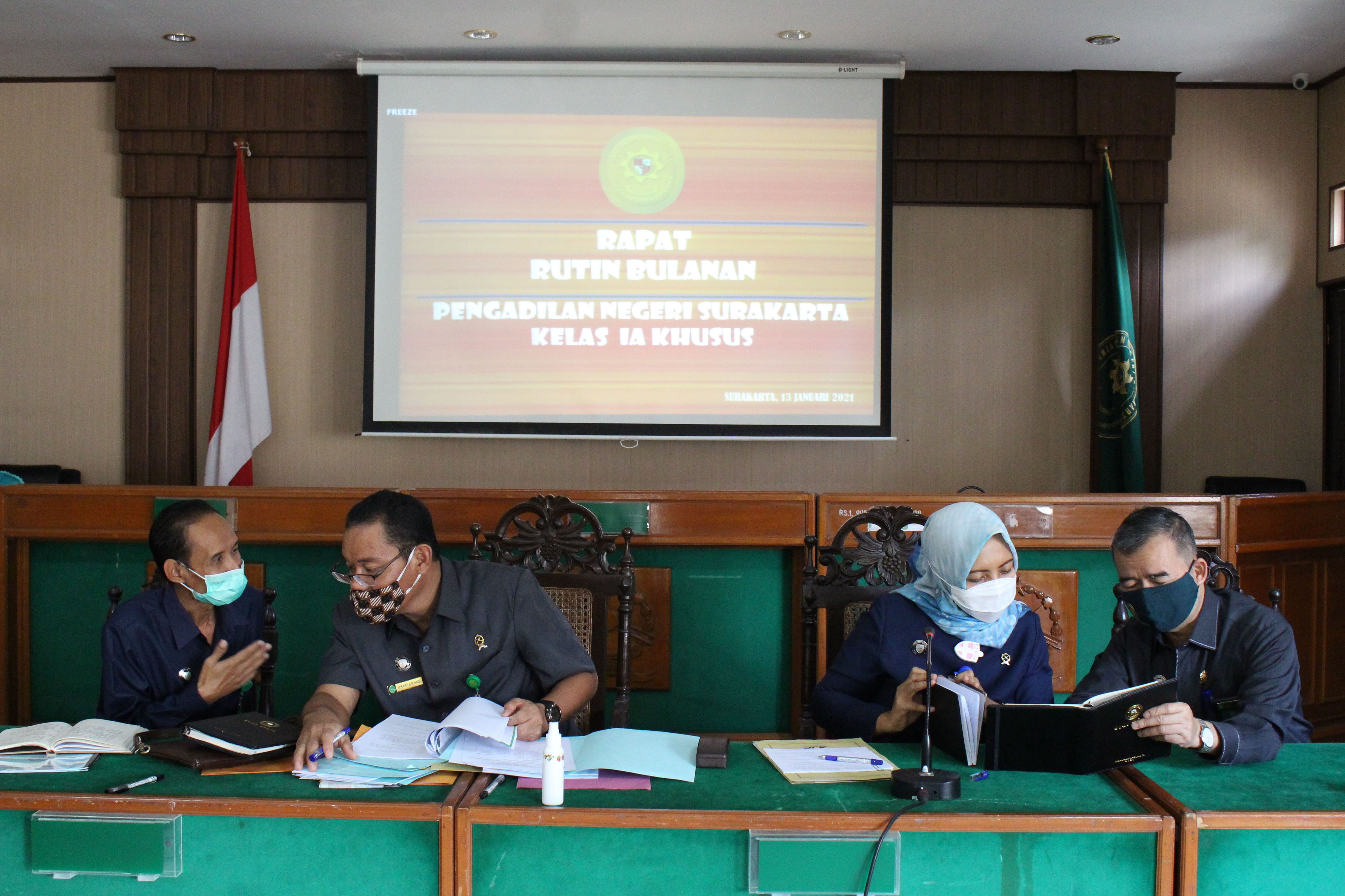 Rapat Bulanan Januari 2021 di Pengadilan Negeri Surakarta Kelas IA Khusus