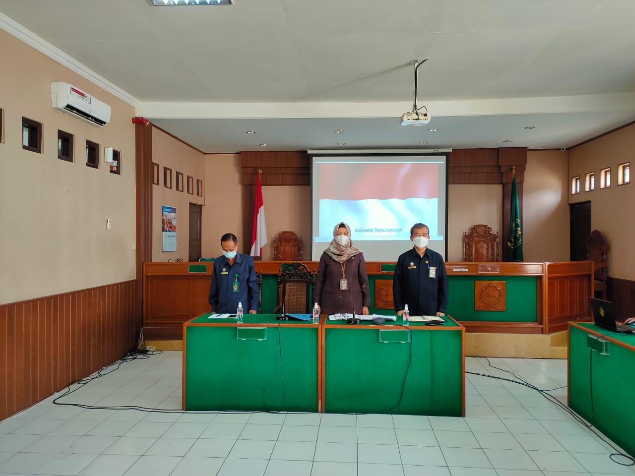 Rapat Rutin Bulan Mei 2021 Pengadilan Negeri Surakarta Kelas IA Khusus