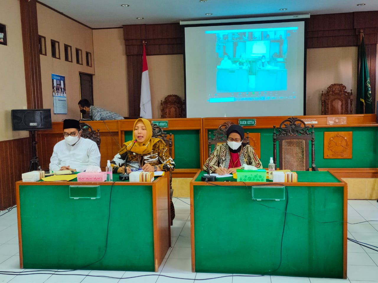 Rapat Bulanan Pengadilan Negeri Surakarta Kelas IA Khusus Periode Agustus 2021