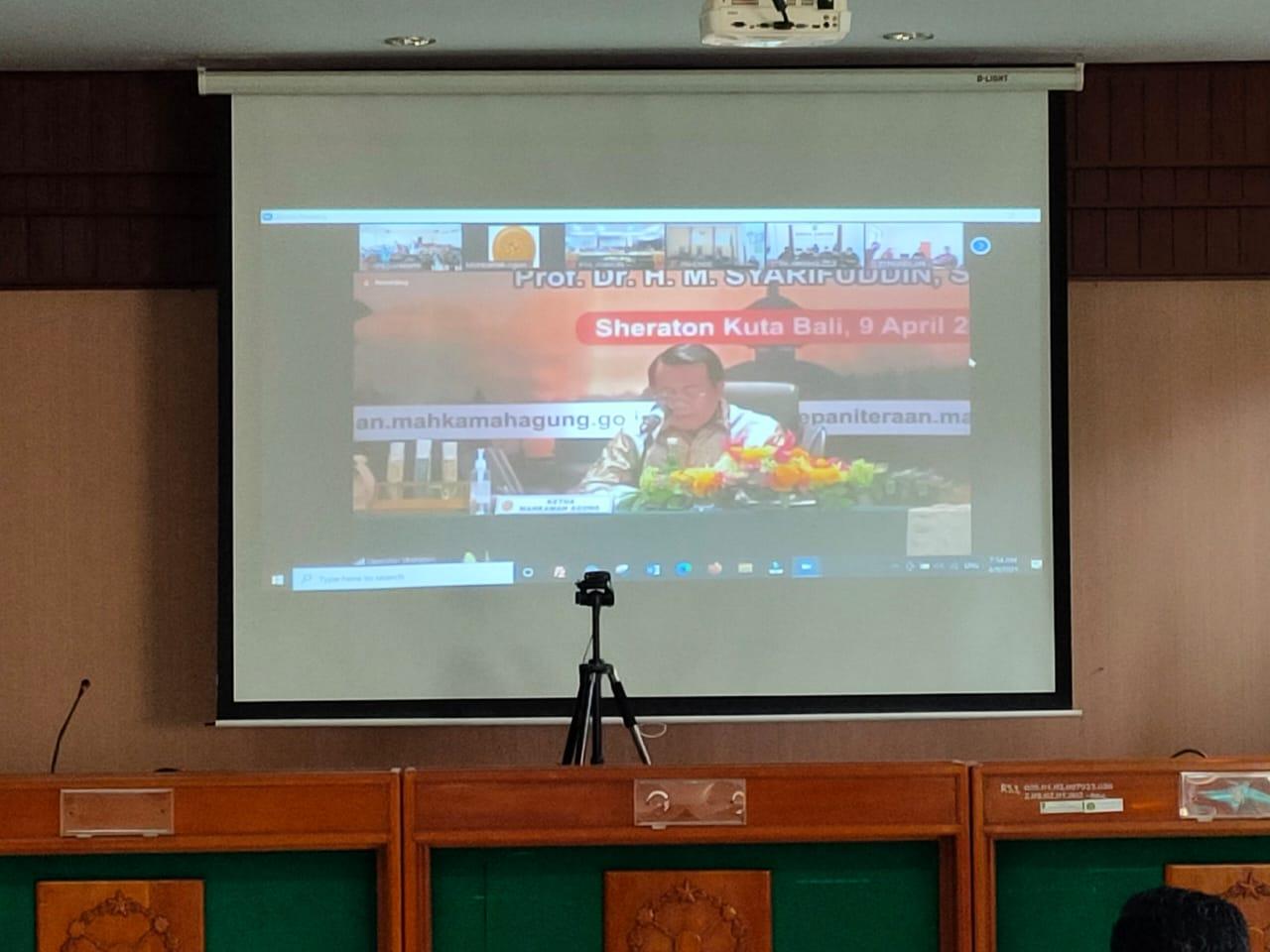 Pembinaan Teknis dan Administrasi Bidang Yudisial oleh Pimpinan Mahkamah Agung Republik Indonesia