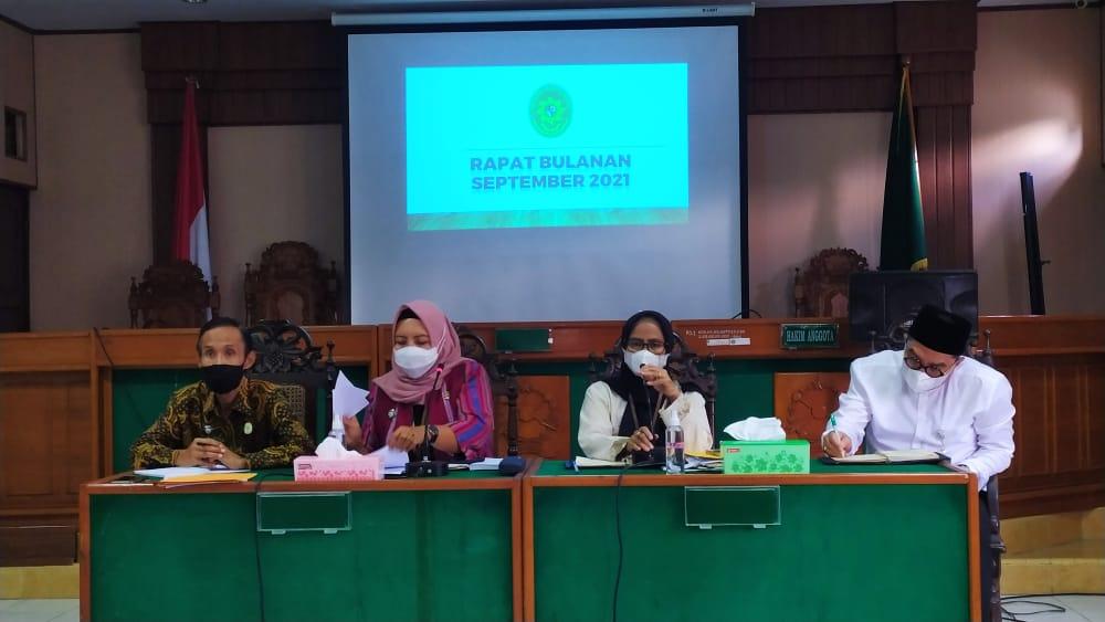 Rapat Bulanan Pengadilan Negeri Surakarta Kelas IA Khusus Periode September 2021